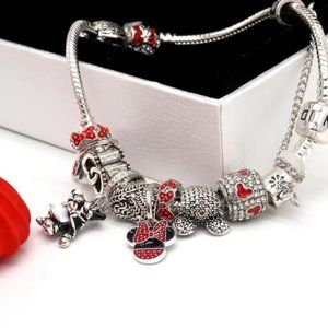 Pandoral bracelet with Disney charms